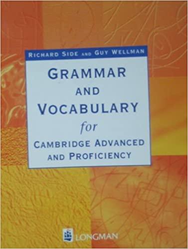 Grammaire et vocabulaire pour CAE et CPE