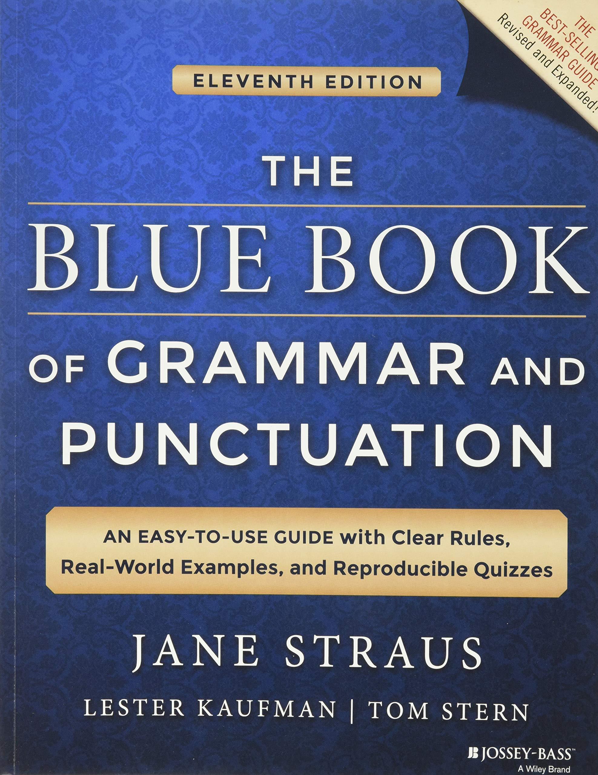 le livre bleu de grammaire et de ponctuation