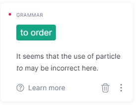 Grammatical Mistakes Checker